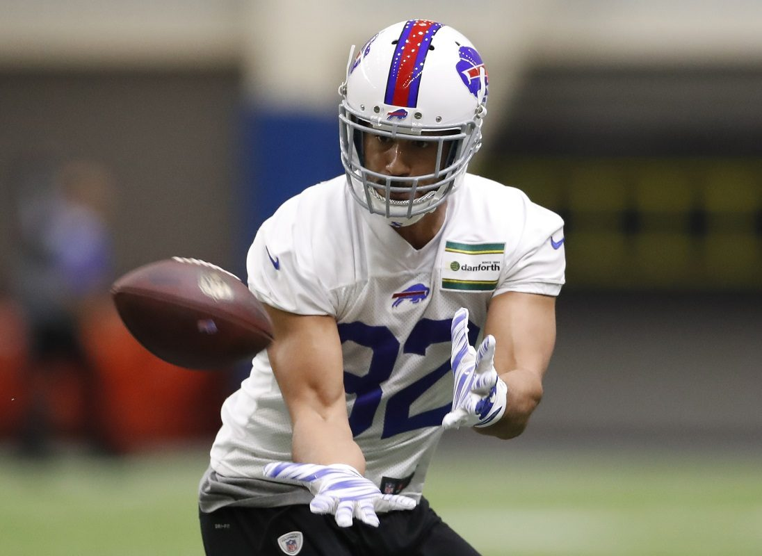 Buffalo Bills TE Logan Thomas is turning heads in training camp. (Harry Scull Jr./Buffalo News)