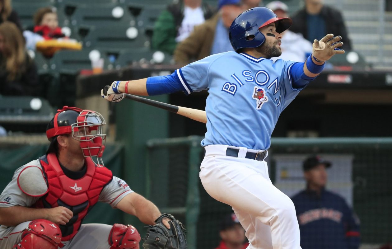 Raffy Lopez homered off David Price in the second inning. (Harry Scull Jr./Buffalo News)