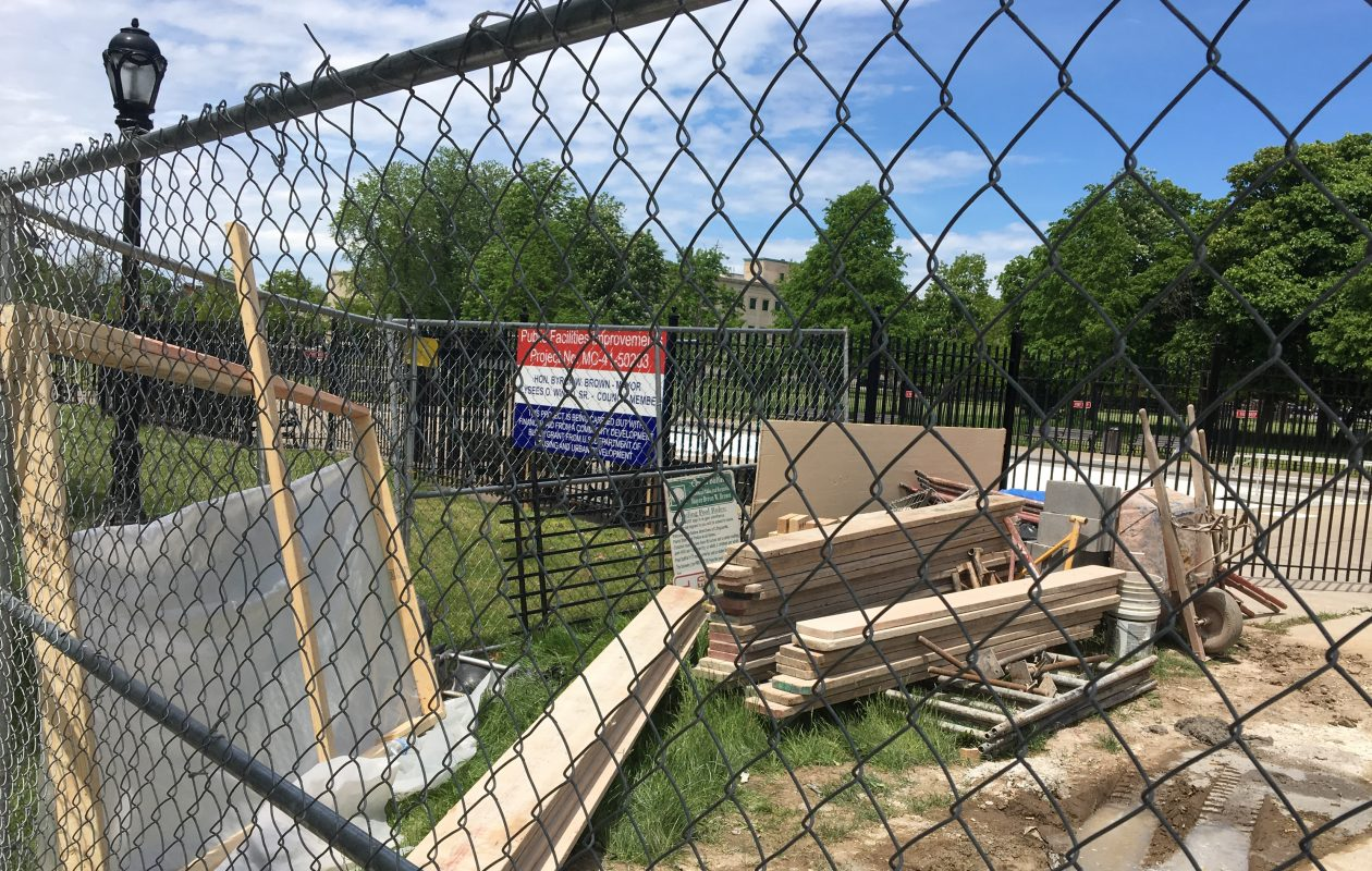 Renovations at the casino at Martin Luther King Jr. Park will be completed this summer.
