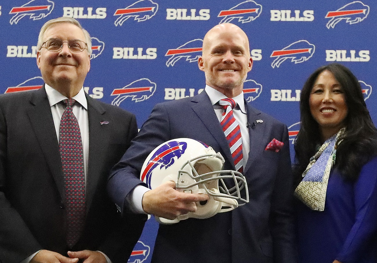 Bills owners Terry and Kim Pegula pulled in nearly a quarter-billion dollars in national NFL revenue last fiscal year. (James P. McCoy/Buffalo News)