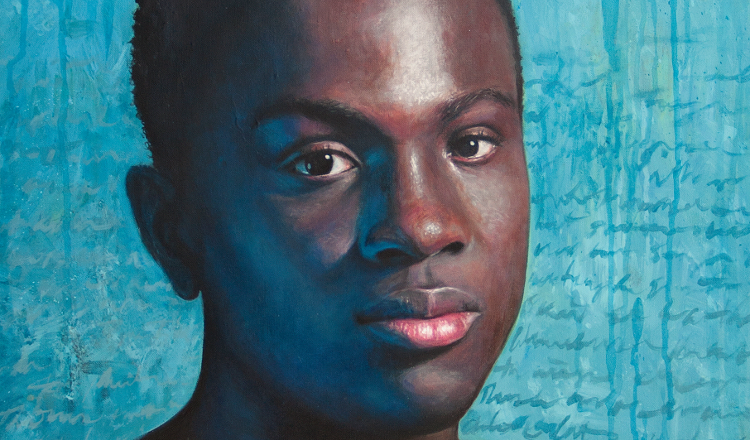 Julia Douglas' portrait, 'Philmore,' hangs in Buffalo Arts Studio through June 2.