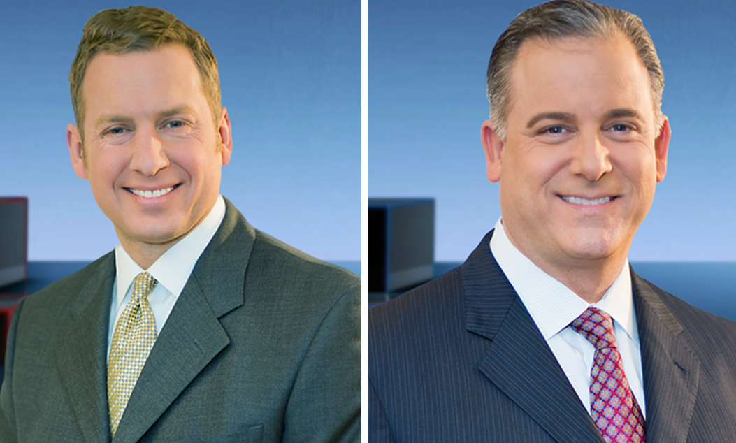 Adam Benigni, left, has not worked a newscast since Scott Levin, right, returned. (via WGRZ)