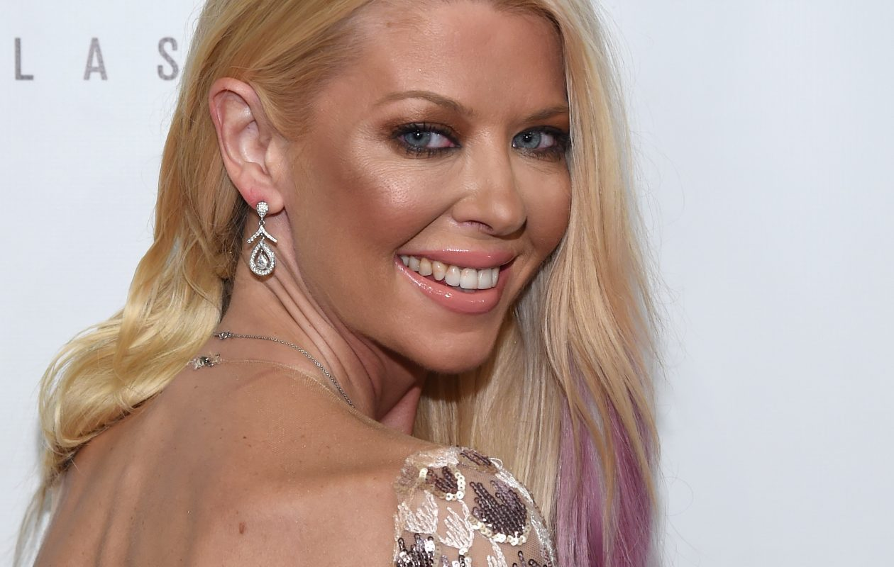 "Tara Reid, shown at the premiere of ""Sharknado: The 4th Awakens,"" has recently finished filming the fifth movie in the Syfy series. (Getty Images)"