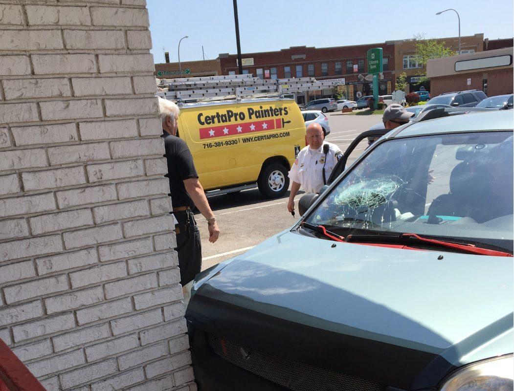 A driver hit the McDonald's on Main Street in the City of Tonawanda on Thursday afternoon. (photo courtesy of City of Tonawanda Police)