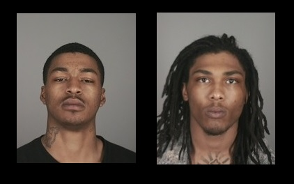 Paul Montanez, 20, of Buffalo, left, and Adrian Petty, 22, of Buffalo, both face charges of promoting prostitution. (Town of Tonawanda Police)