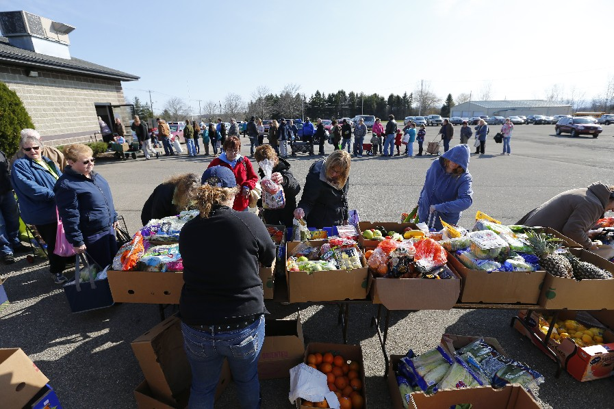 Donald Trump voters should stay away from programs like this food bank run by Community Action of Wyoming County, which says it would lose about 90 percent of its funding under the president's proposed budget. (Mark Mullville/Buffalo News file photo)