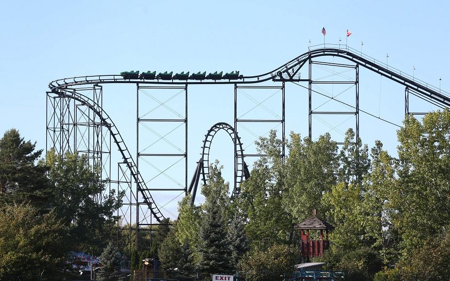 Darien Lake's oldest roller coaster, the Viper, turns 35 this year. (Sharon Cantillon/Buffalo News file photo)