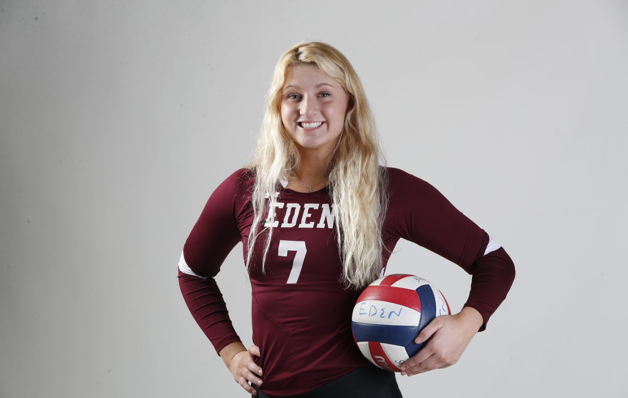 Eden's Sam Burgio was named the Prep Talk Female Athlete of the Year at Wednesday's Prep Talk Awards. (Harry Scull Jr./Buffalo News)