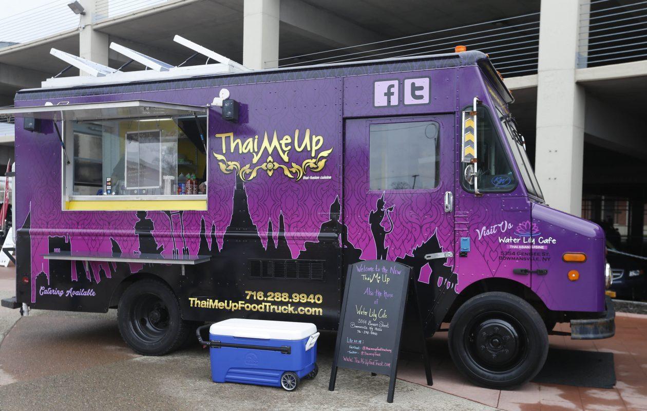 Thai Me Up is one of the food trucks that regularly visits the Buffalo Niagara Medical Campus. (Sharon Cantillon/Buffalo News)