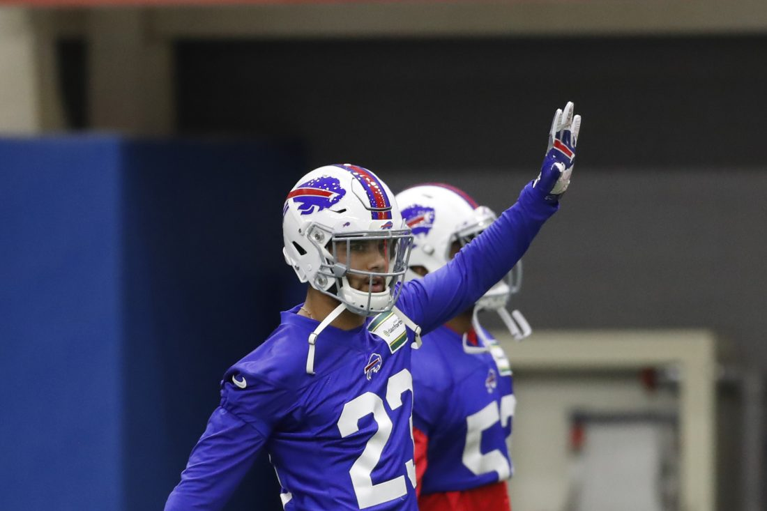 Bills safety Micah Hyde's versatility makes him valuable to the defense. (Harry Scull Jr./Buffalo News)