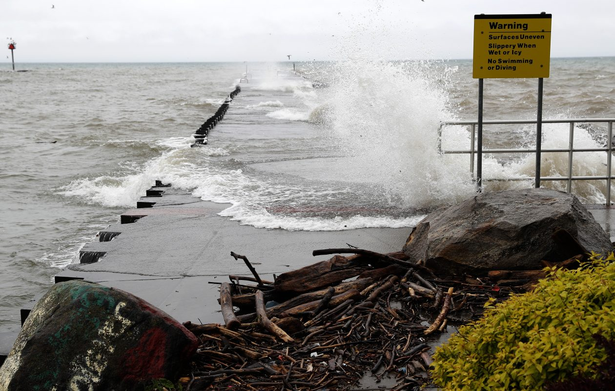 High water levels on Lake Ontario in 2017 were a persistent problem for shoreline residents. (John Hickey/Buffalo News file photo)