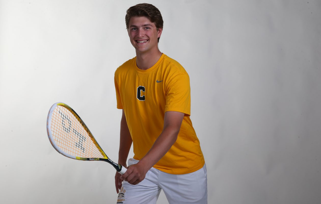 The Prep Talk Player of the Year in boys squash is Matt Dukarm of Canisius High School. (James P. McCoy / Buffalo News)