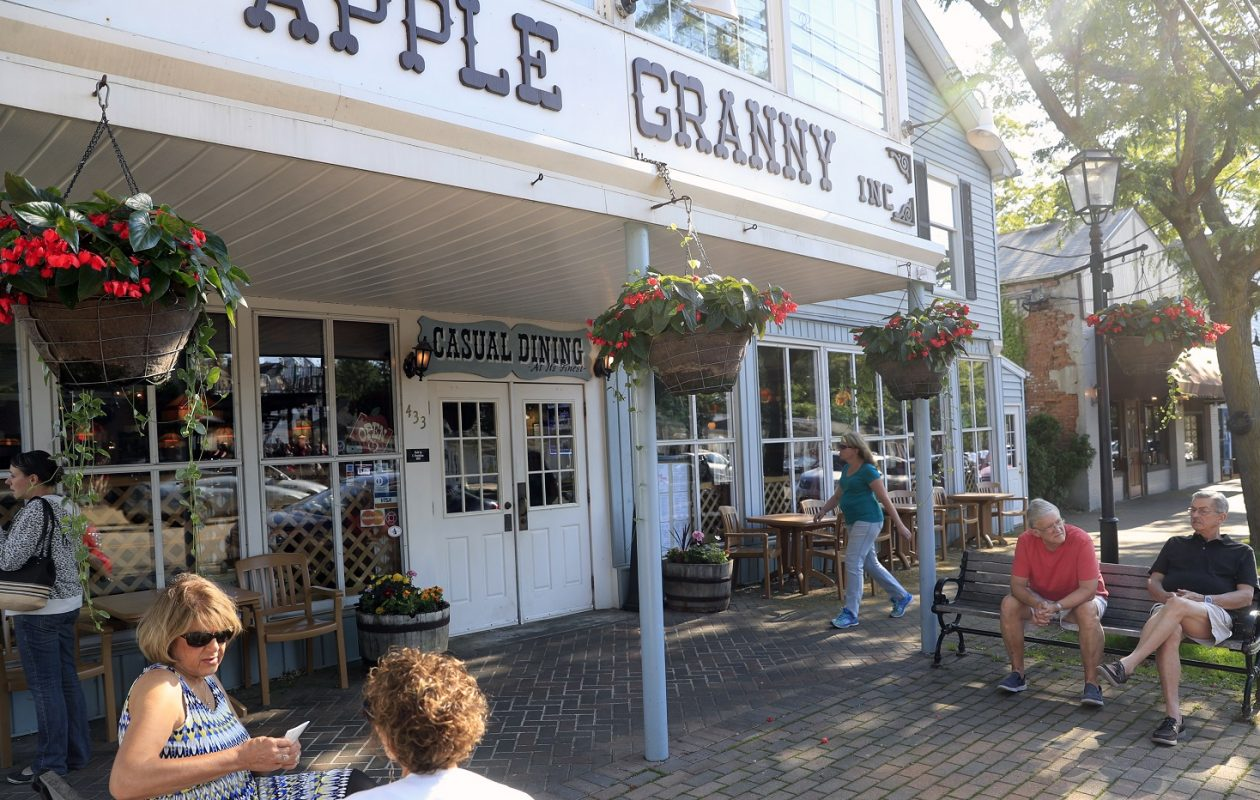 The Apple Granny is just one spot to hang out in Lewiston. (Harry Scull Jr./Buffalo News)