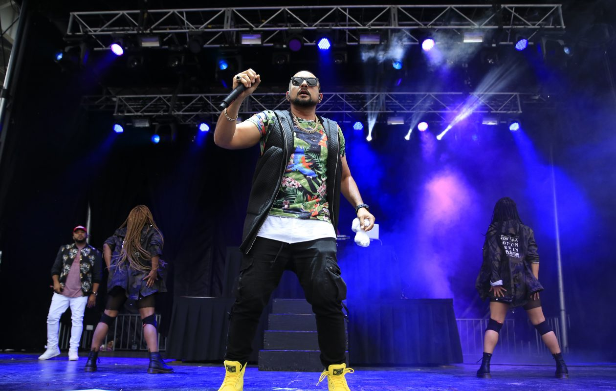 Sean Paul performs at Kiss the Summer Hello at Canalside on Sunday, June 18, 2017. (Harry Scull Jr./Buffalo News)