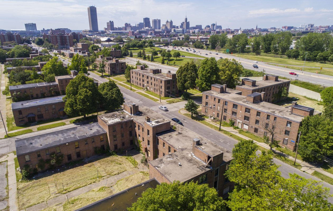 The Commodore Perry complex in Buffalo.  (Derek Gee/Buffalo News)