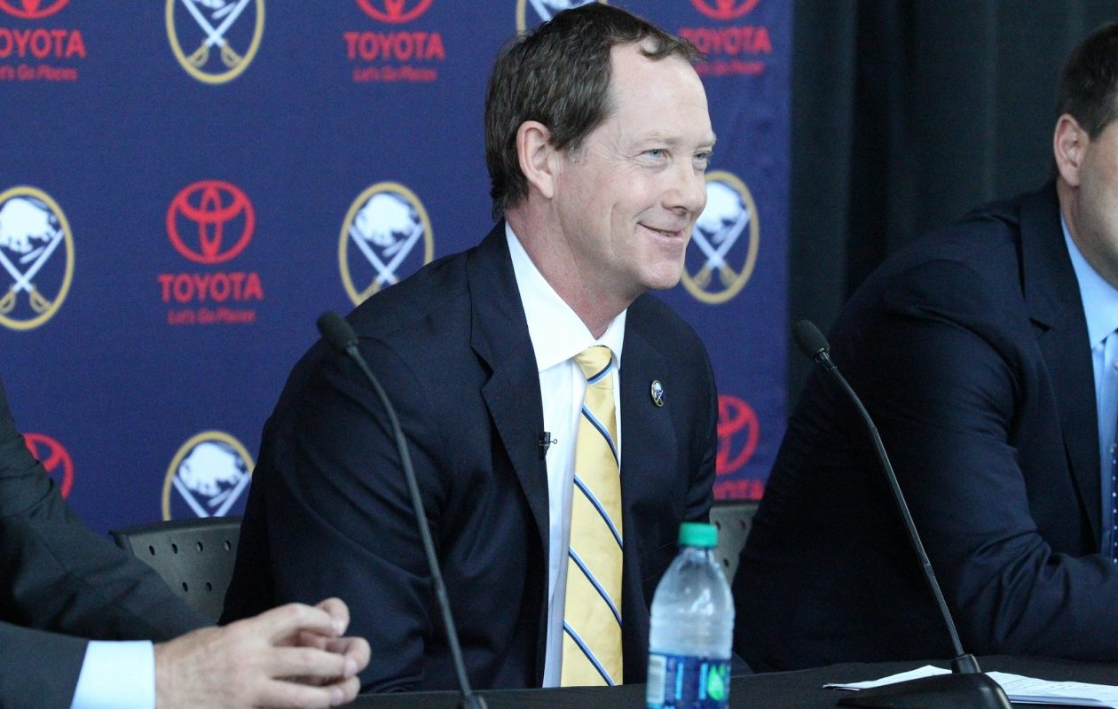 Twitter reaction was mostly favorable when the Sabres hired Phil Housley to be their head coach on Thursday. (James P. McCoy/Buffalo News)