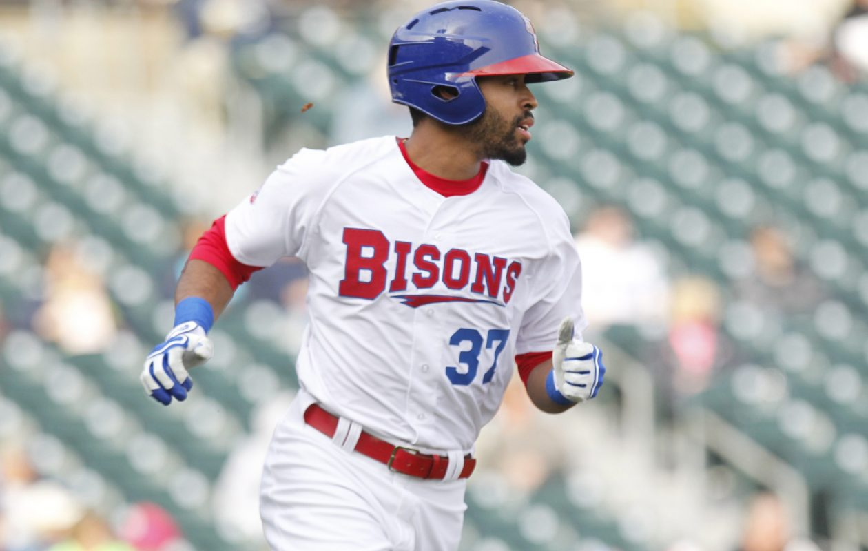Dalton Pompey is scheduled to continue his rehab with the Bisons on Sunday. (Harry Scull Jr./Buffalo News file photo)