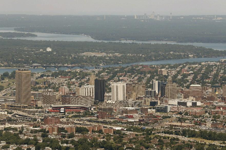 An aerial view of Buffalo. (News file photo)
