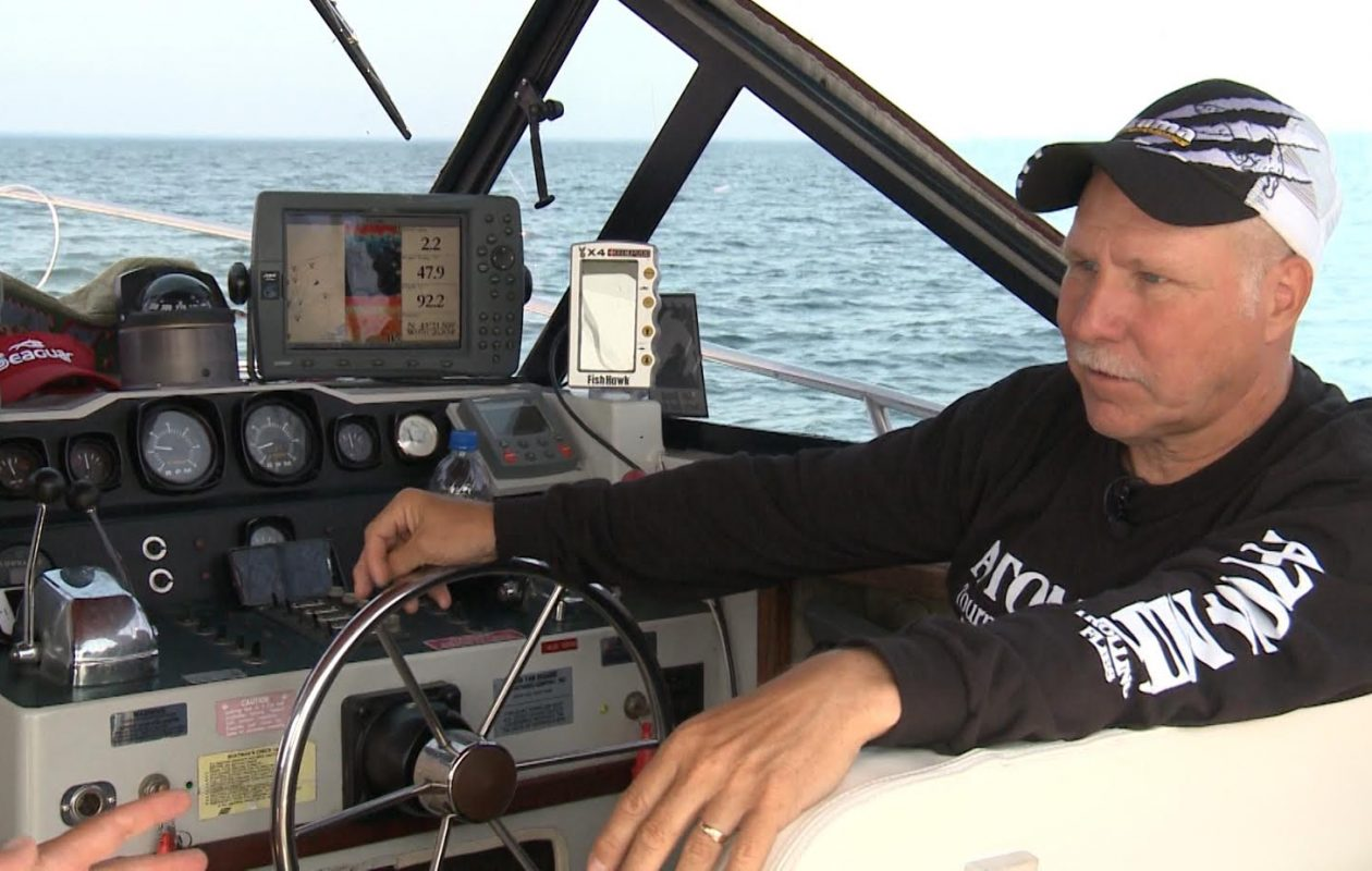 Captain Ed at the helm.