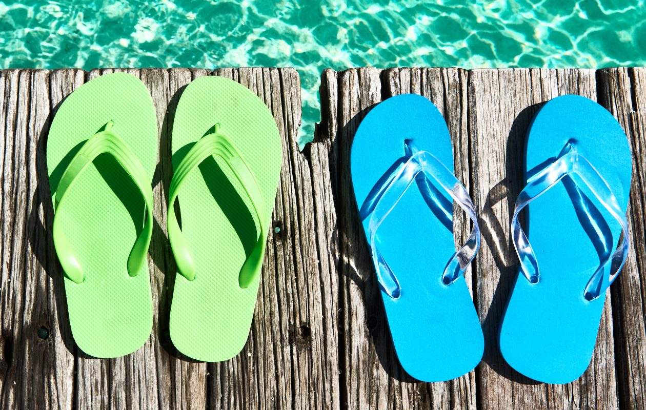 Flip-flops and summer go hand in hand. Or is it foot in foot?
