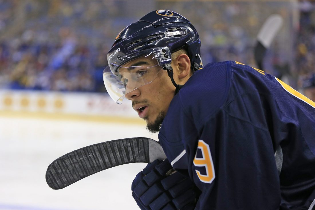 Evander Kane says he's not looking to get traded by the Sabres (Harry Scull Jr./Buffalo News file photo).