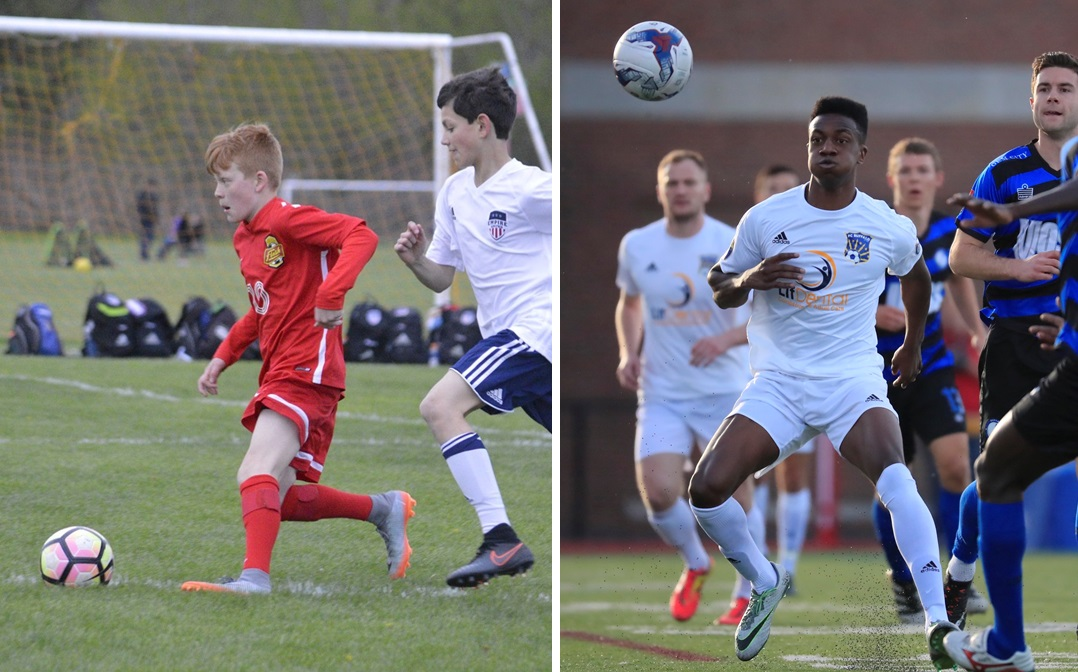 The WNY Flash Academy, left, and FC Buffalo, right, will take part in charitable endeavors over the next few weeks.. (Julie Michel; Harry Scull Jr./Buffalo News file photo)