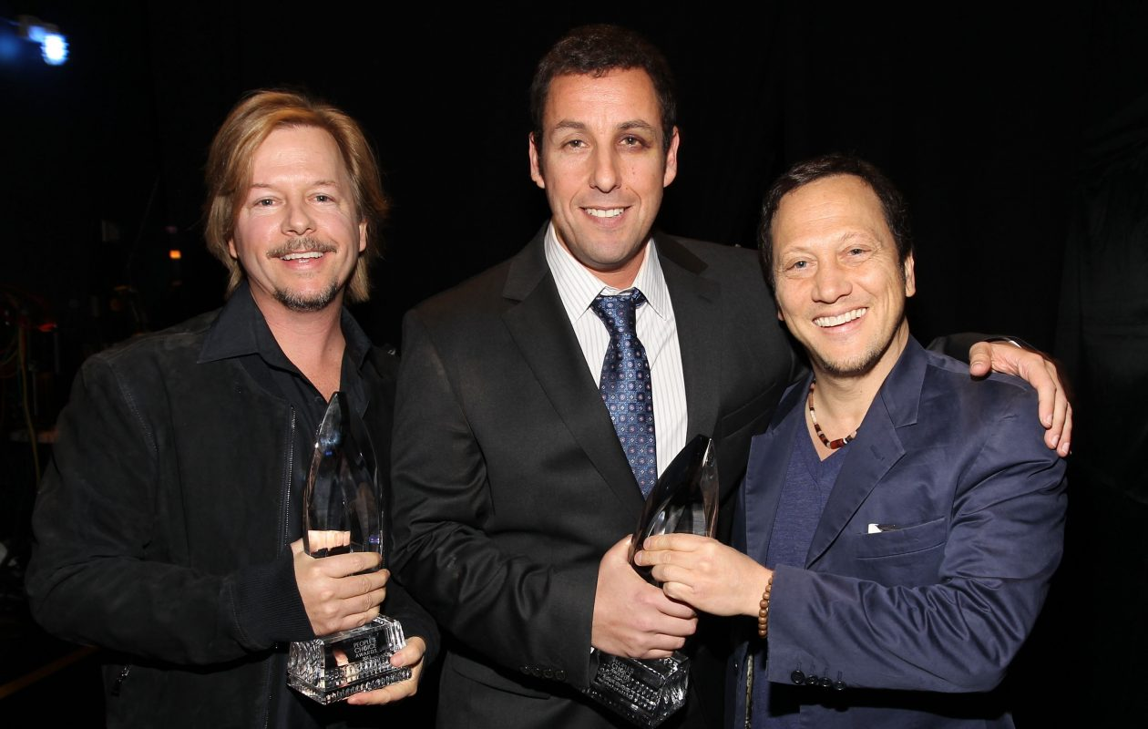 Actors David Spade, Adam Sandler and Rob Schneider attend the 2011 People's Choice Awards in Los Angeles.  (Photo by Christopher Polk/Getty Images for PCA)