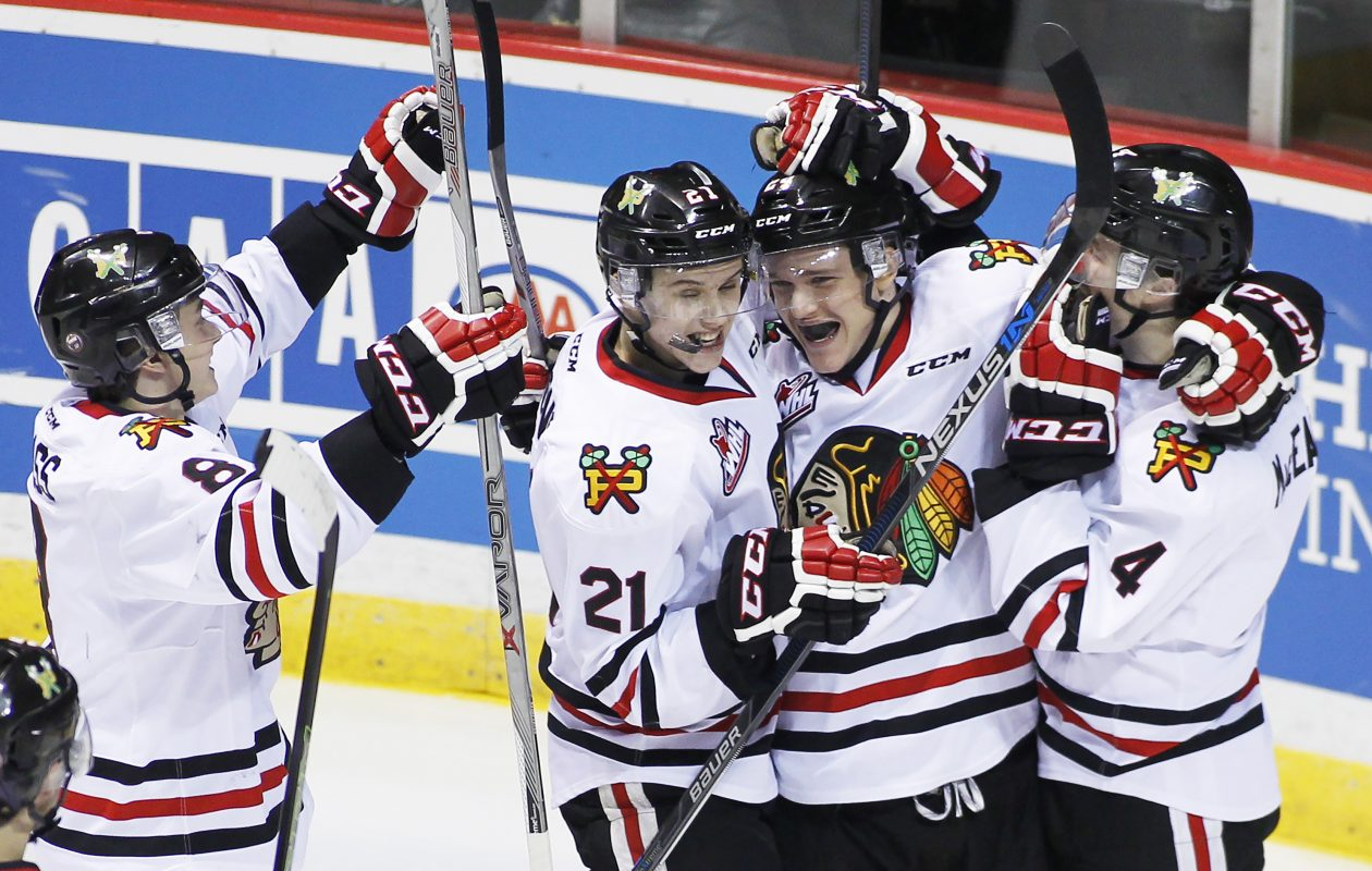 Cody Glass, left, is a regular in Portland's goal celebrations. (Getty Images)