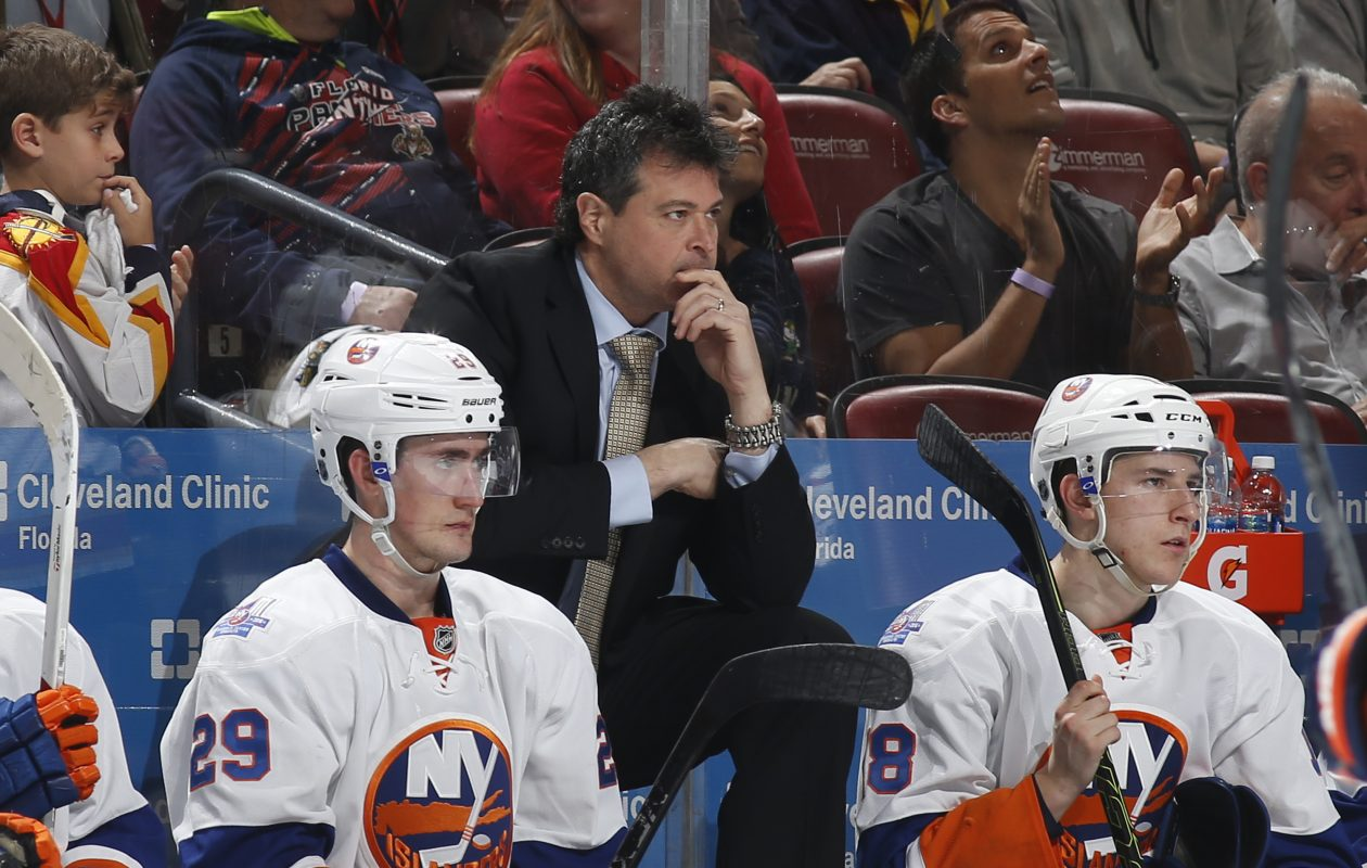 Former Islanders coach Jack Capuano has ties to Phil Housley through USA Hockey. (Getty Images)