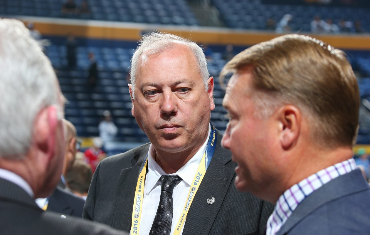 Yuri Khmylev has long been a fixture in the Sabres' arena. (Getty Images)