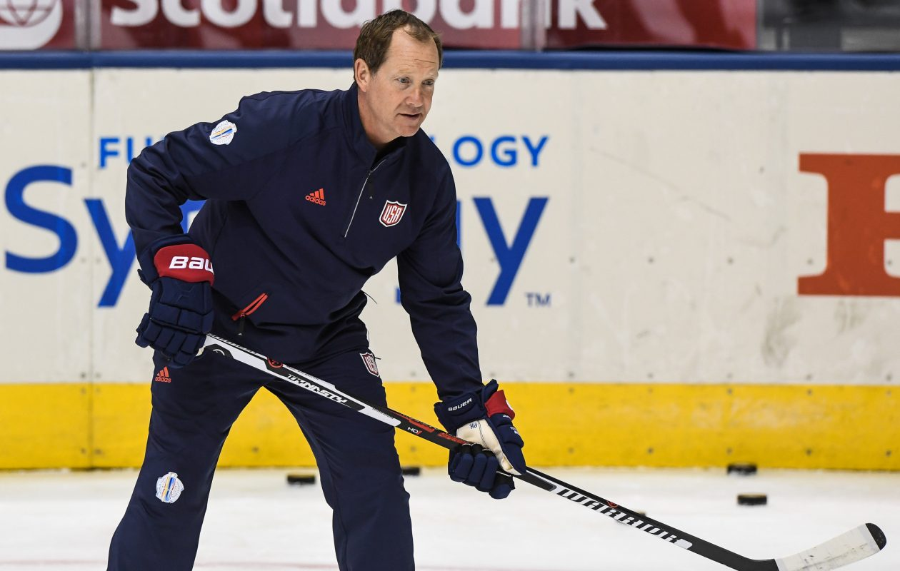 Phil Housley was an assistant coach for the United States at the World Cup of Hockey last year. (Getty Images)