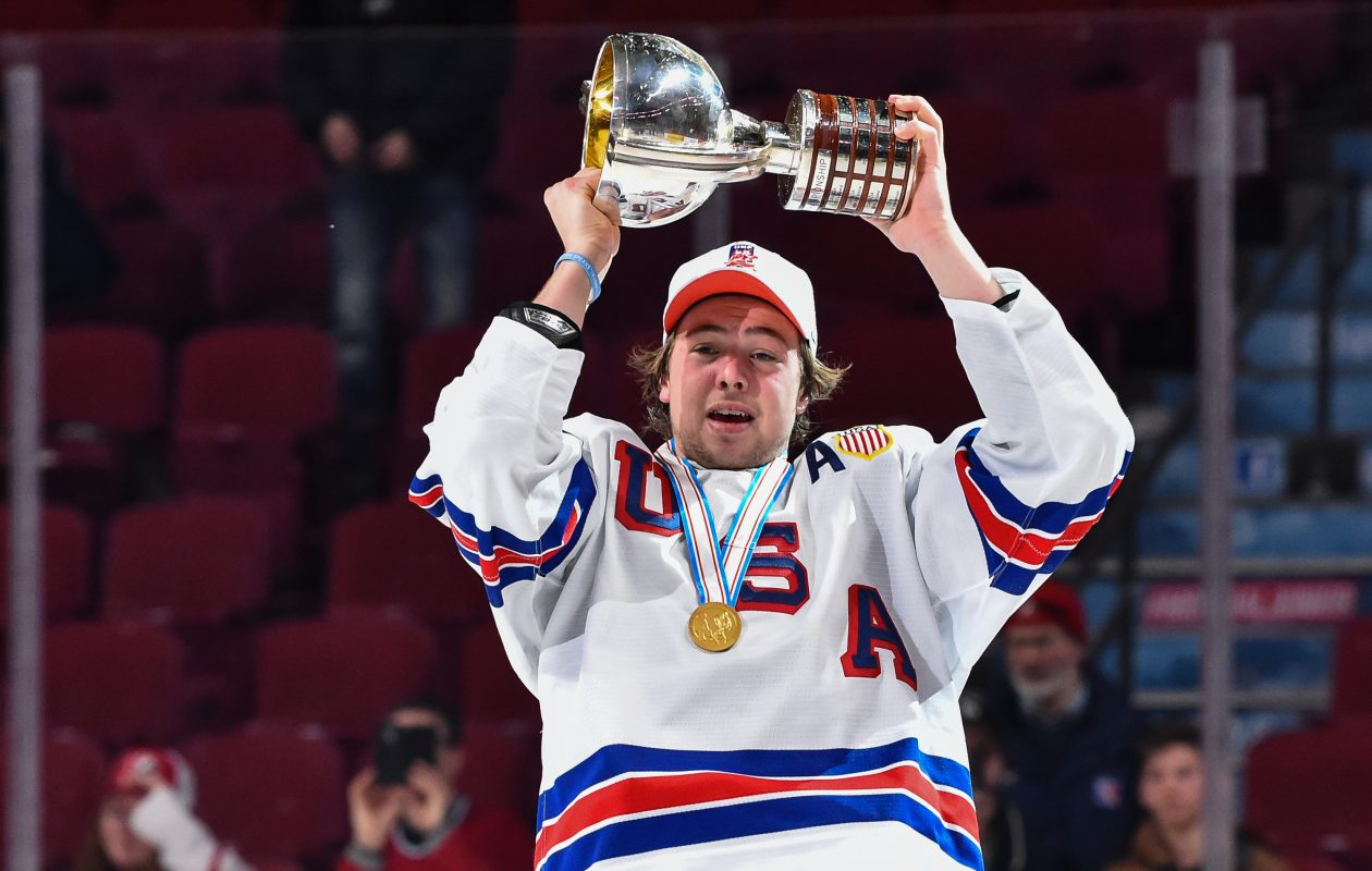 The United States and Charlie McAvoy beat Canada in the gold-medal game of this year's world junior tournament. (Getty Images)