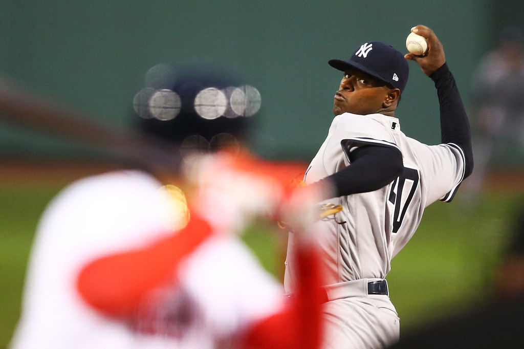 Yankees pitcher Luis Severino is having a strong season after disappointing in 2016. (Getty Images)