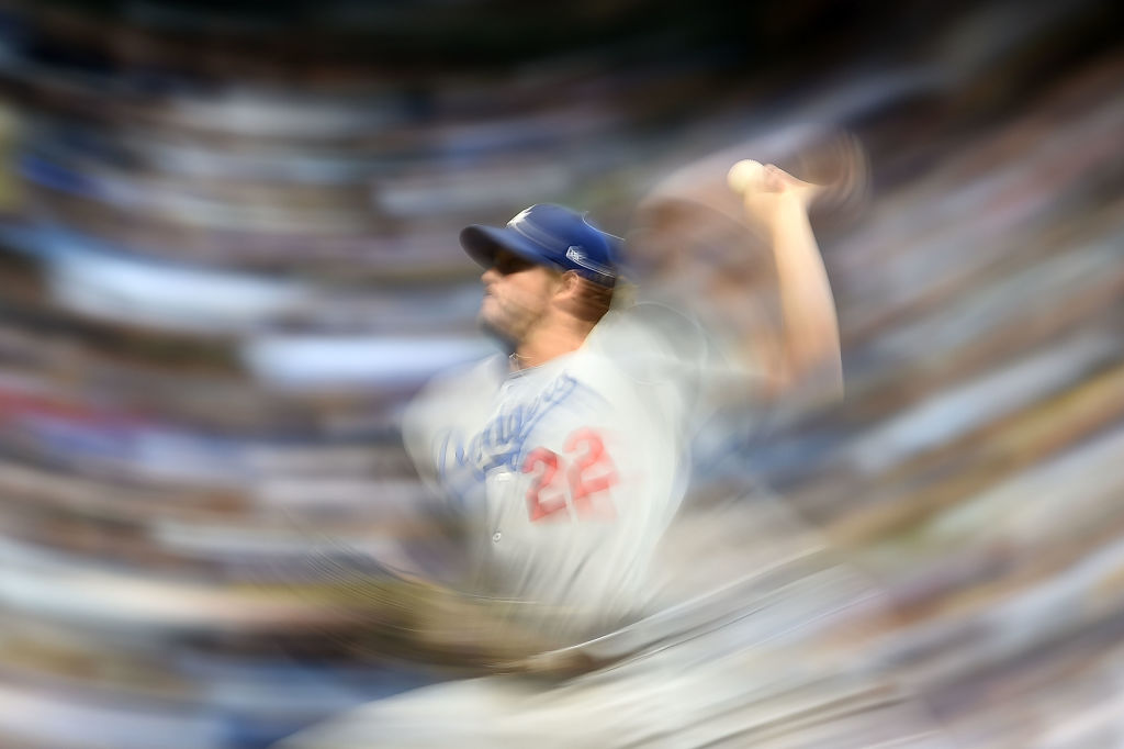 Clayton Kershaw of the Los Angeles Dodgers throws a pitch during the fourth inning of a game against the Milwaukee Brewers at Miller Park on June 2, 2017 in Milwaukee, Wisconsin.  (Getty Images)