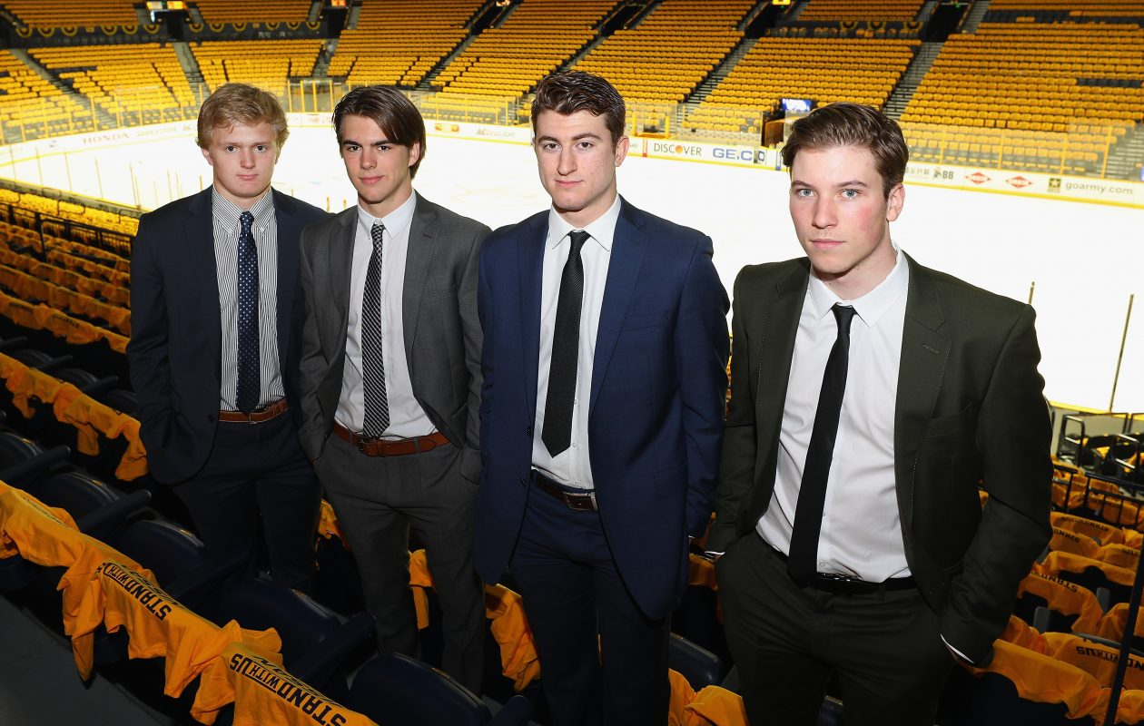 Prospects Casey Mittelstadt, Nico Hischier, Gabriel Vilardi and Nolan Patrick are expected to grow into impressive players, but it might not be immediately. (Getty Images)