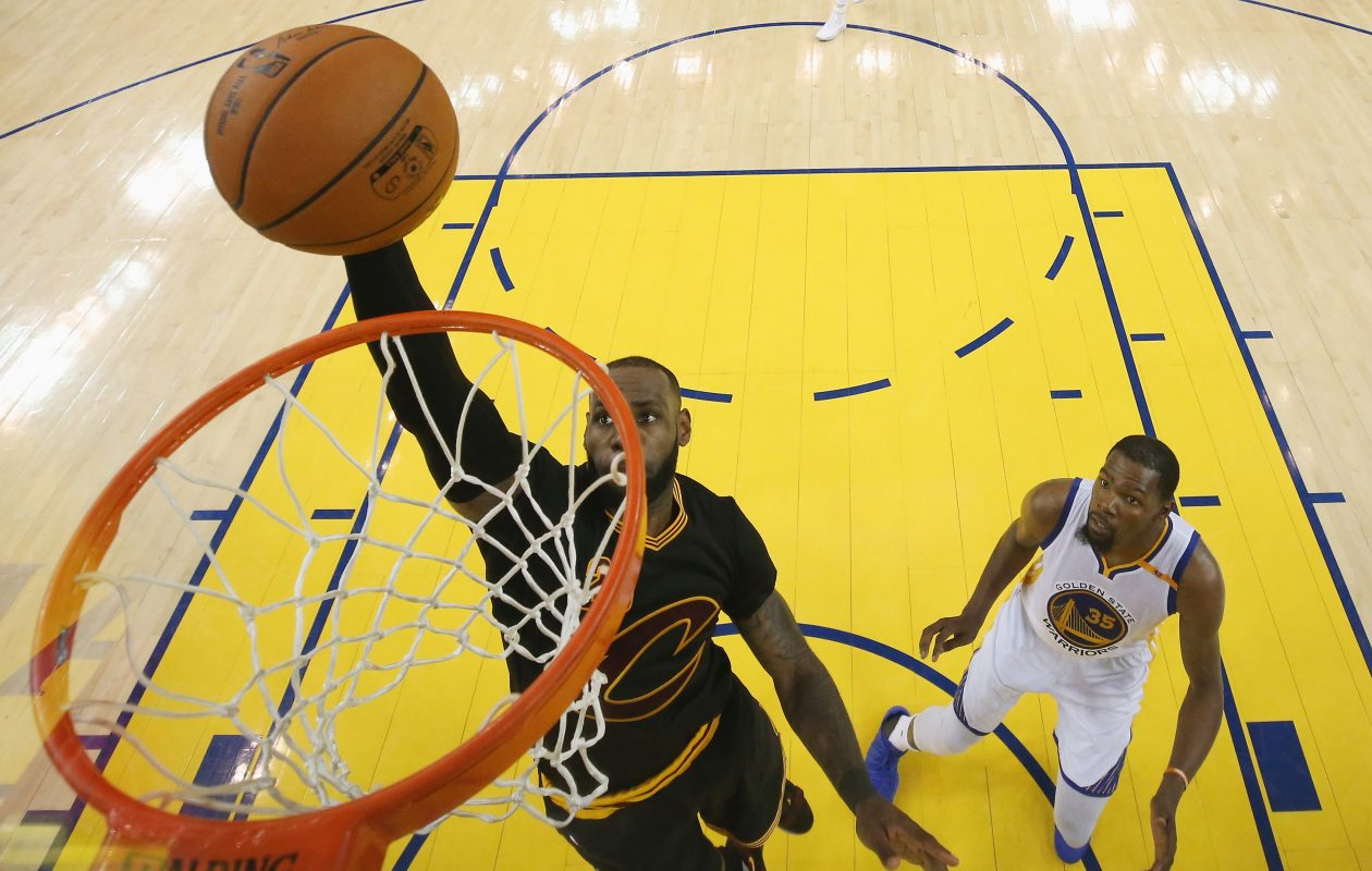 LeBron James is the ultimate basketball freight train. (Ezra Shaw/Getty Images)