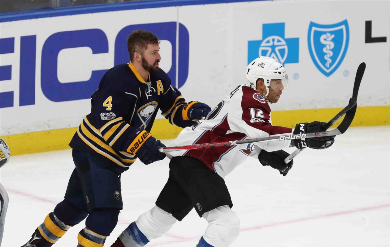 Sabres defenseman Josh Gorges has one year left on his contract with a $3.9 million cap hit. (James P. McCoy/Buffalo News)
