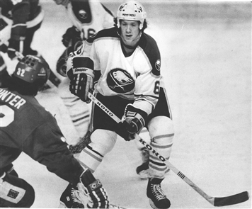 Phil Housley with the Sabres during the 1980s (Buffalo News file photo).