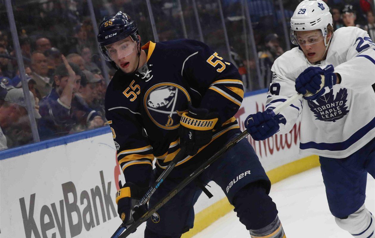 Rasmus Ristolainen and the Sabres will get Adidas jerseys instead of Reebok ones next season. (James P. McCoy/Buffalo News)