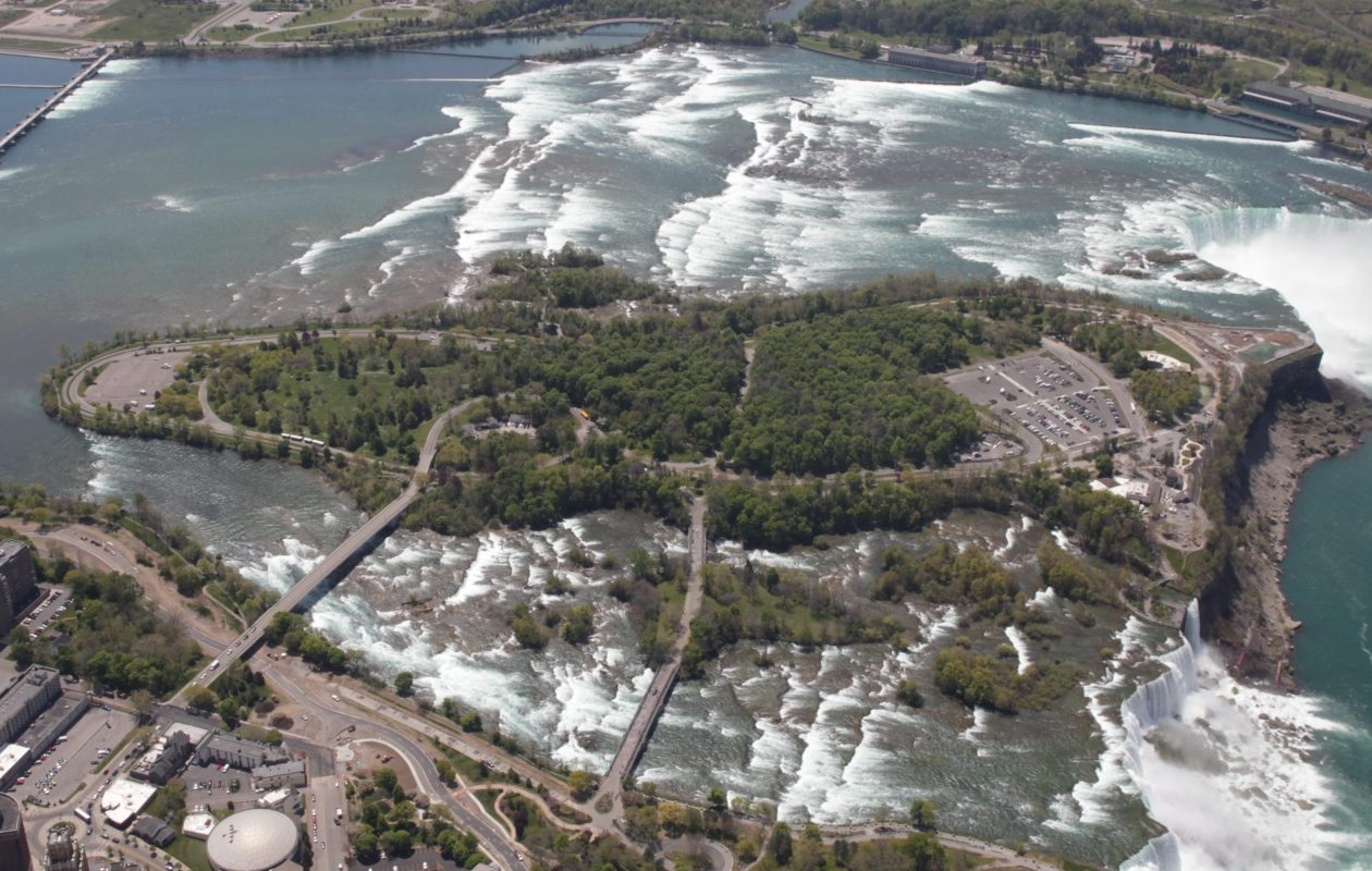 Goat Island at Niagara Falls will be the scene of a June 23 attempt to break the world record for a mass renewal of wedding vows. (News file photo)