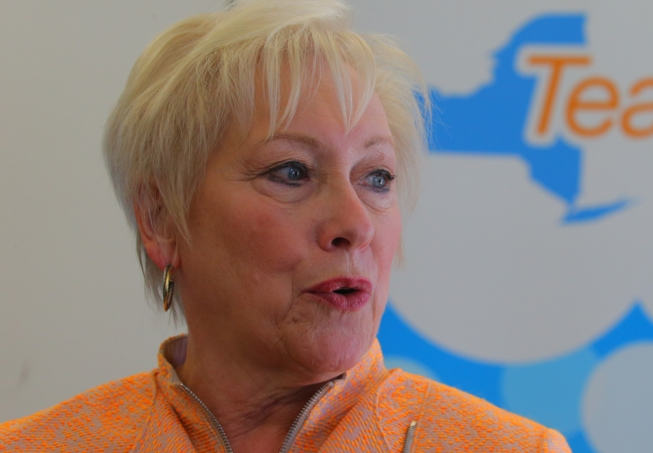 SUNY Shancellor Nancy L. Zimpher visits UB as part of her listening tour last year. for the TeachNY Initiative.  (John Hickey/Buffalo News)