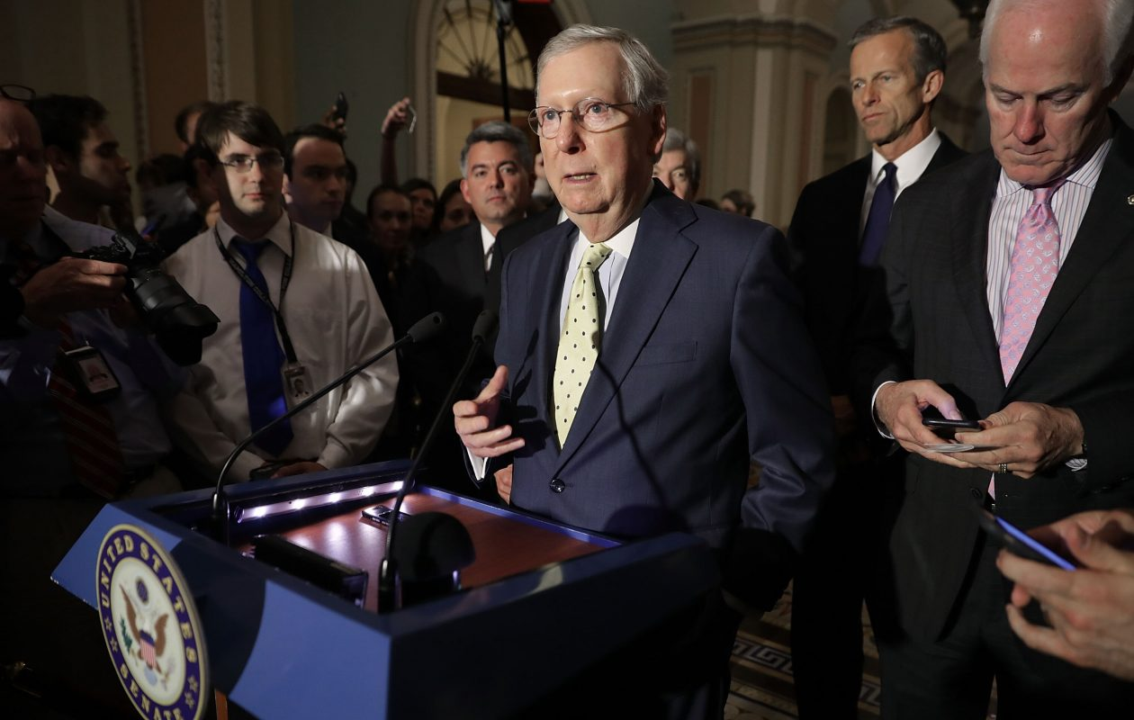 Senate Majority Leader Mitch McConnell is trying to ram health care legislation through the Senate without allowing enough time for senators or the public to debate what's in it. (Getty Images)
