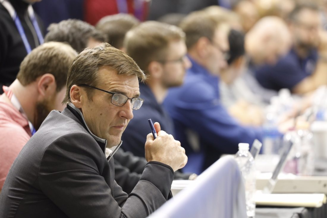 Vegas GM George McPhee was at HarborCenter for the NHL Scouting Combine earlier this month (Derek Gee/Buffalo News)