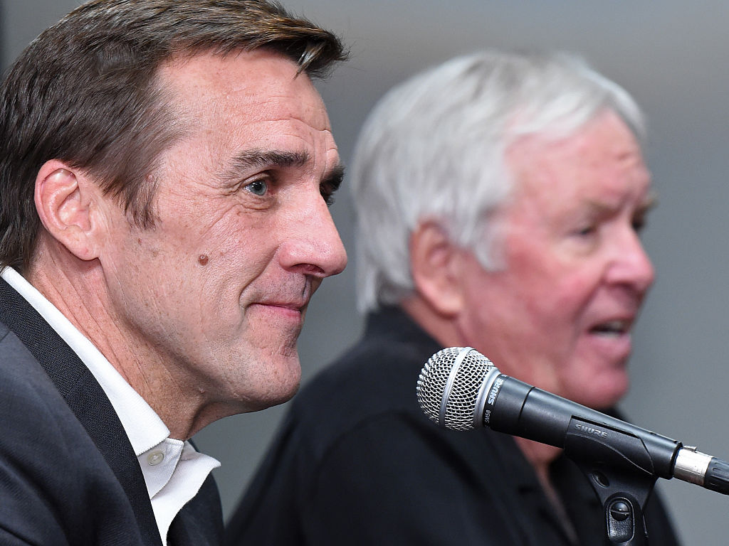 Vegas GM George McPhee (left) and owner Bill Foley will unveil their team Wednesday night (Getty Images).