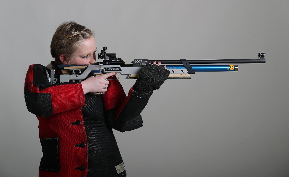 The Prep Talk Athlete of the Year in rifle is Kristen Mucha of Lancaster. (James P. McCoy / Buffalo News)