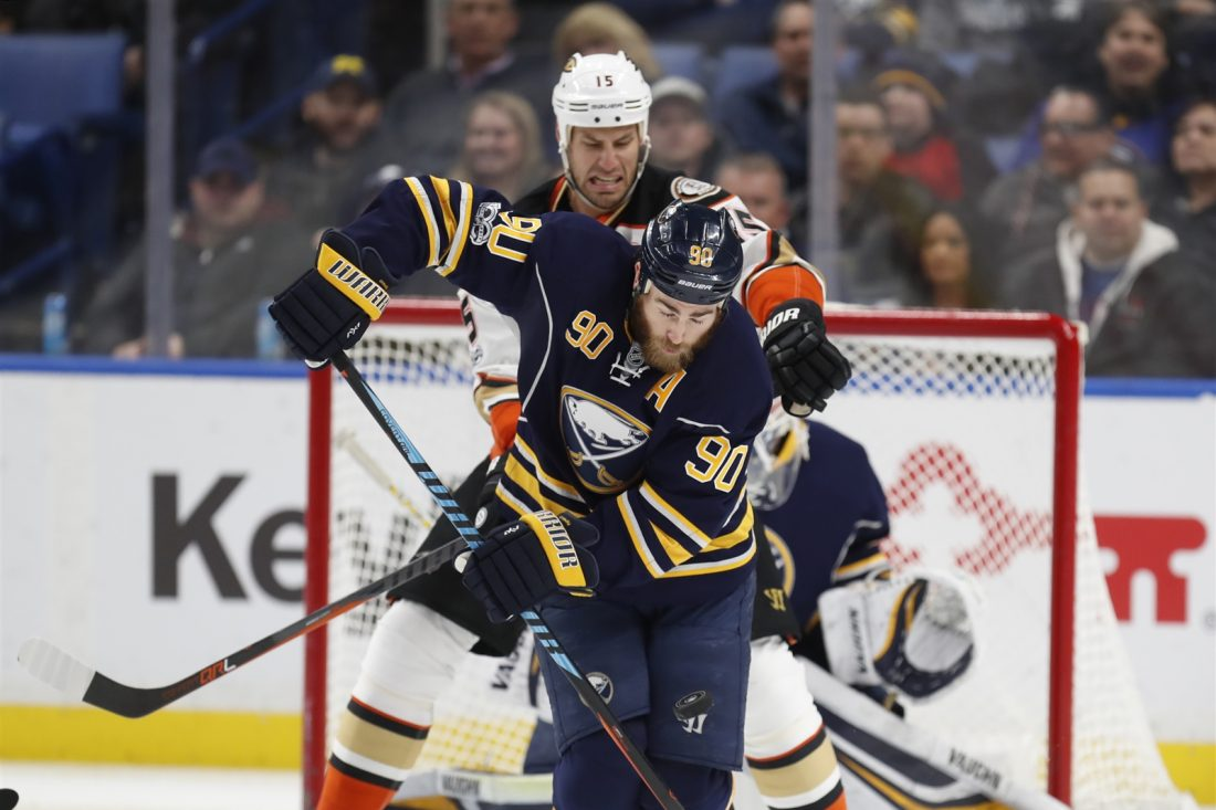 Ryan O'Reilly and the Sabres have an Octoberr trip out West to meet Ryan Getzlaf and the Anaheim Ducks (Harry Scull Jr./Buffalo News).