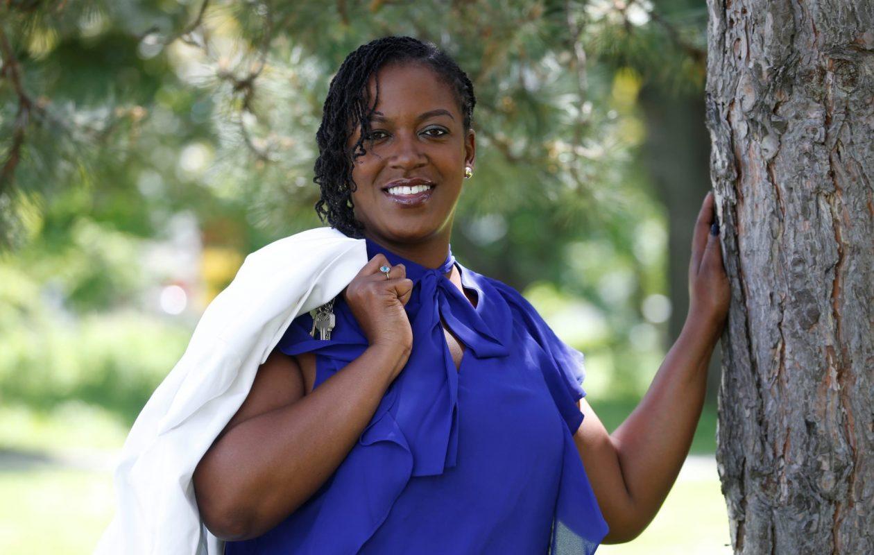 Community activist Taniqua Simmons is running for Buffalo mayor.  This was in MLK Park on Thursday, June 8, 2017.  (Robert Kirkham/Buffalo News)