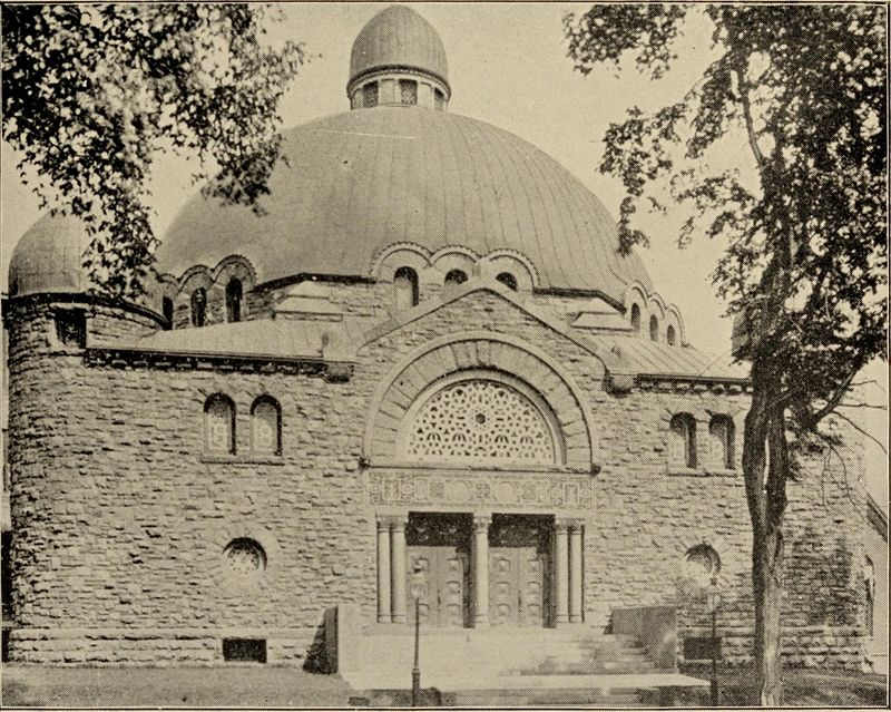 Temple Beth Zion stood at 599 Delaware Ave. for more than 70 years until it was consumed by fire Oct. 4, 1964. (Photo courtesy of wikipedia.com.)