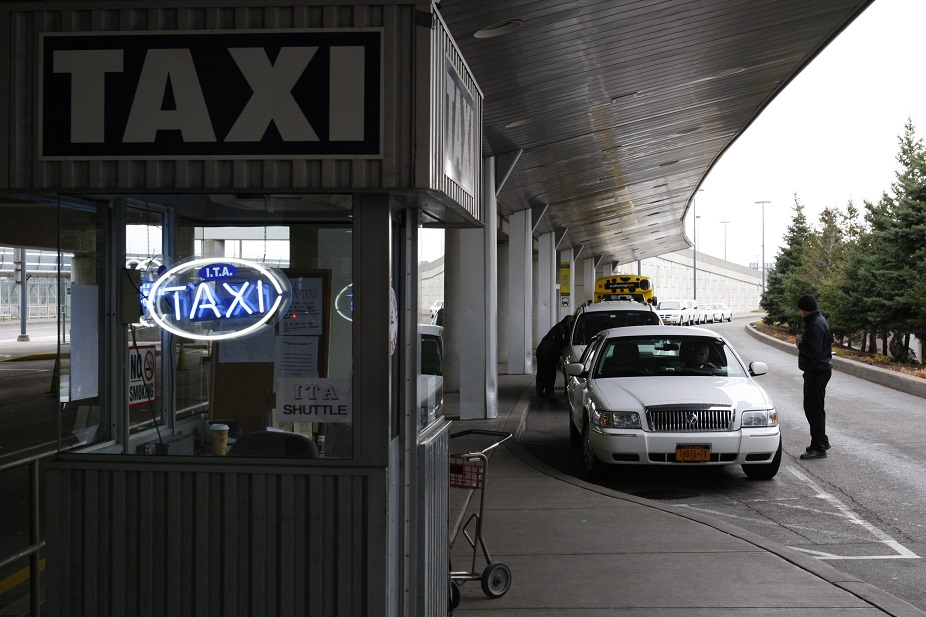 Buffalo Airport Taxi pays the airport a few cents for each passenger who gets off a plane at Buffalo Niagara International Airport. (Harry Scull Jr./Buffalo News file photo)