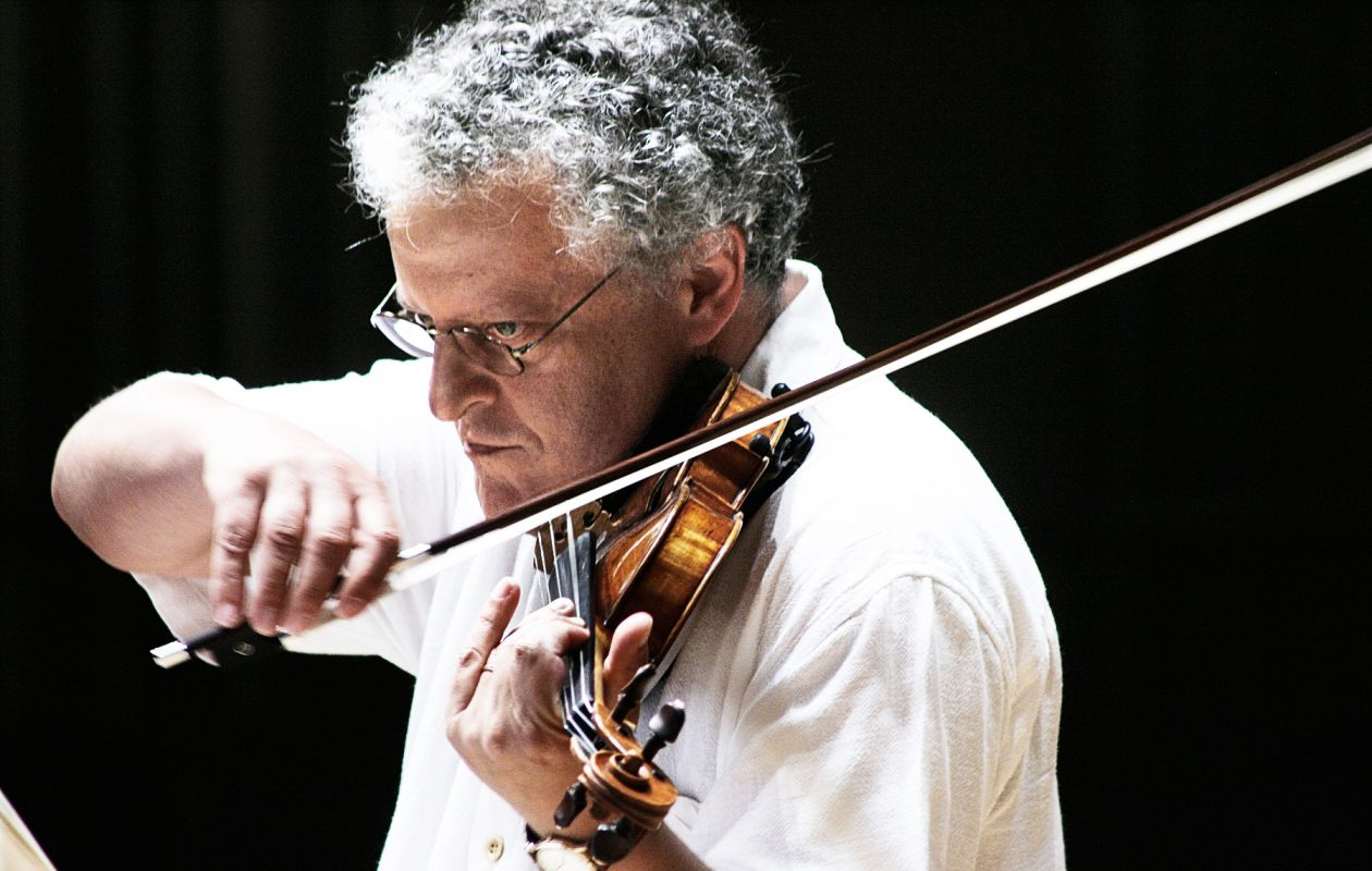 Irvine Arditti's multiple performances were highlights of June in Buffalo. (Photo by Irene Haupt)